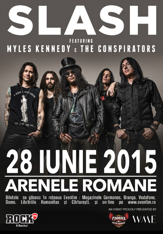 Afiș concert Slash, Myles Kennedy și The Conspirators Romania 2015