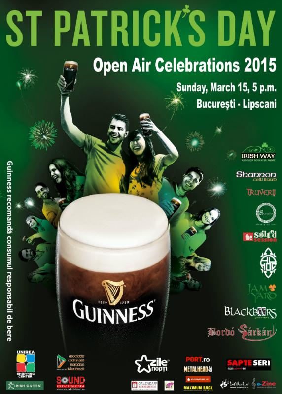 Afiș concert St Patrick Day