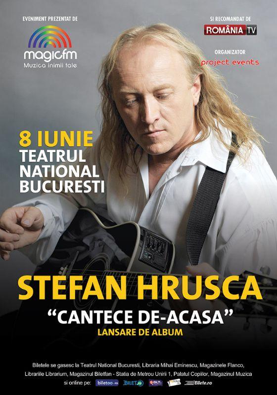 Afiș concert Ștefan Hrușcă la Teatrul Național București pe 8 iunie 2015