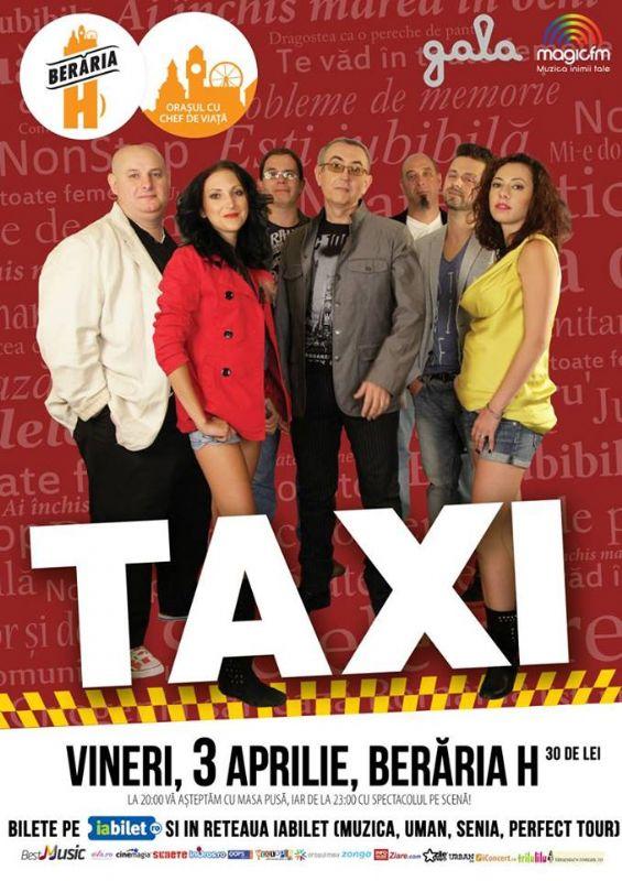 Afiș concert Taxi la Berăria H
