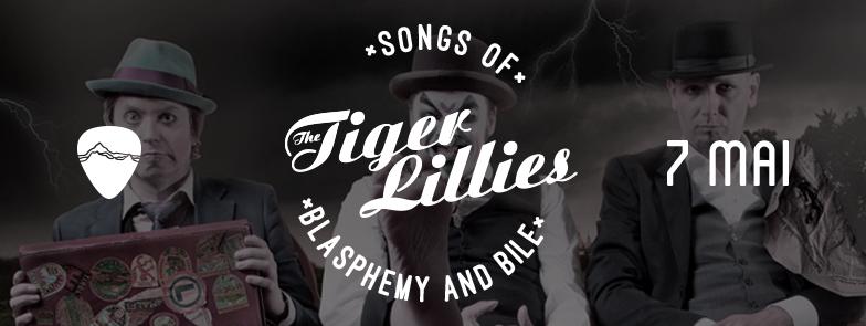 Afiş concert The Tiger Lillies în Control Club pe 7 mai 2015