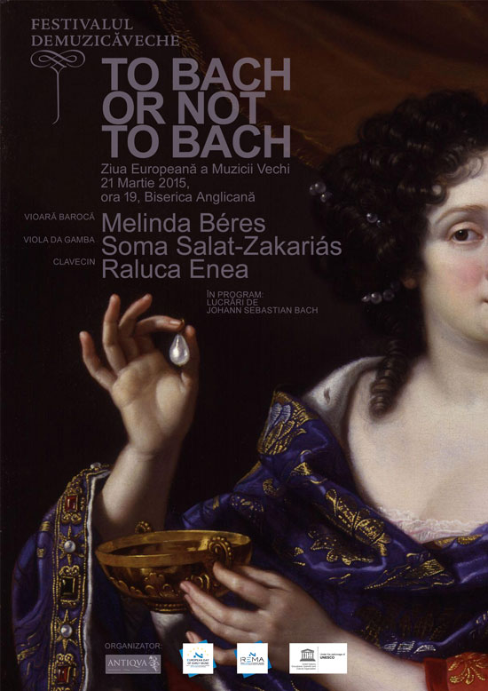 Afiș concert To bach or not to Bach 2015 la Biserica Anglicana