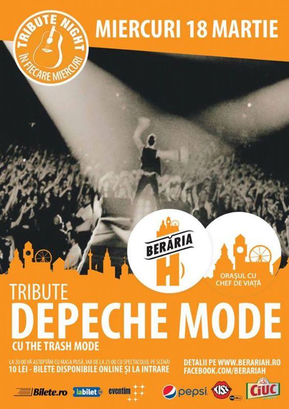 Afiș concert tribut Depeche Mode