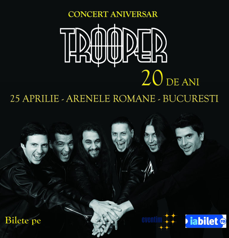 Afiş concert Trooper la Arenele Romane pe 25 aprilie 2015