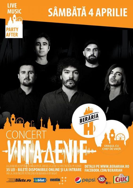 Afiș concert Vita de Vie la Beraria H