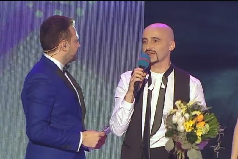 Călin Goia, solistul Voltaj la aflarea rezultatelor Finalei Selecției Naționale pentru Eurovision 2015