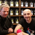 Călin Goia și Vali Ionescu cu prilejul interviului VOLTAJ pentru InfoMusic - martie 2015
