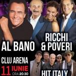 Afiş concert Albano şi Richi e Poveri la Cluj şi Timişoara pe 11 şi 12 iunie 2015