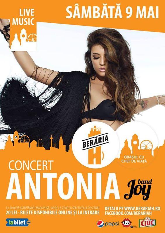 Afiș concert Antonia la Berăra H pe 9 mai 2015