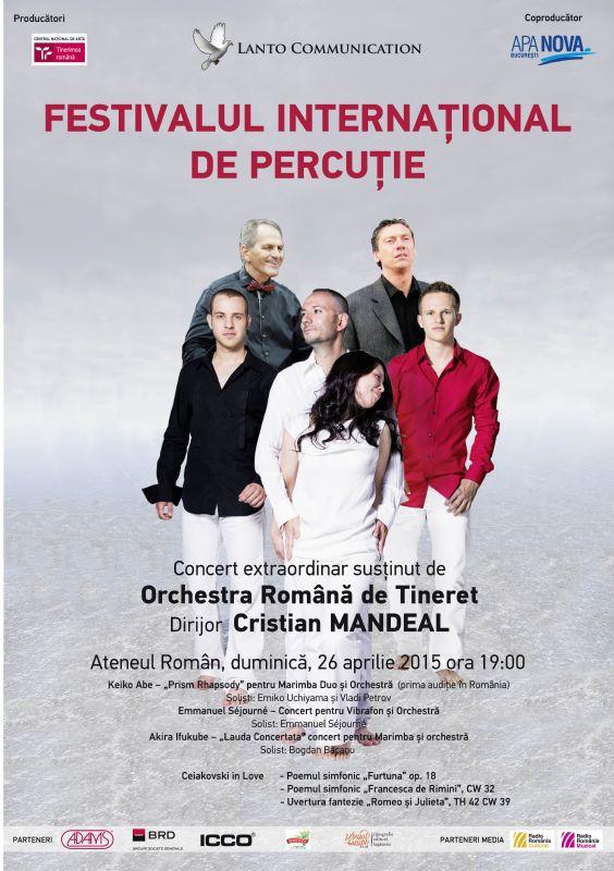 Festivalul Internațional de Percuție la Ateneul Român 2015