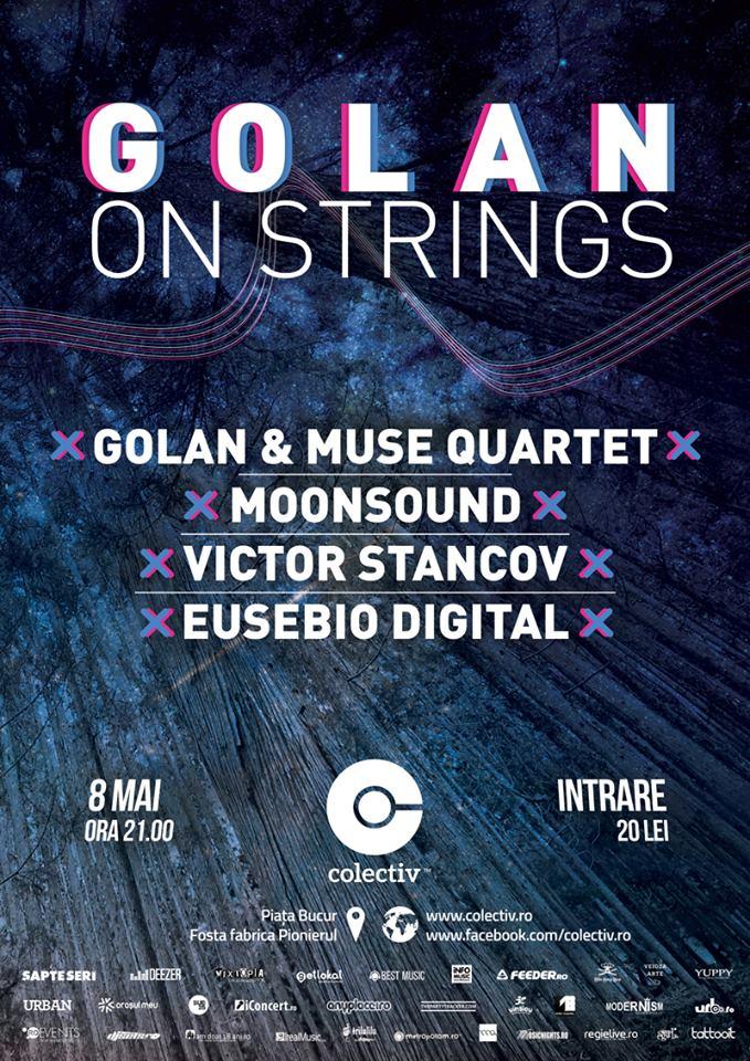 Afiș concert Golan and Muse Quarter în Colectiv 8 mai 2015