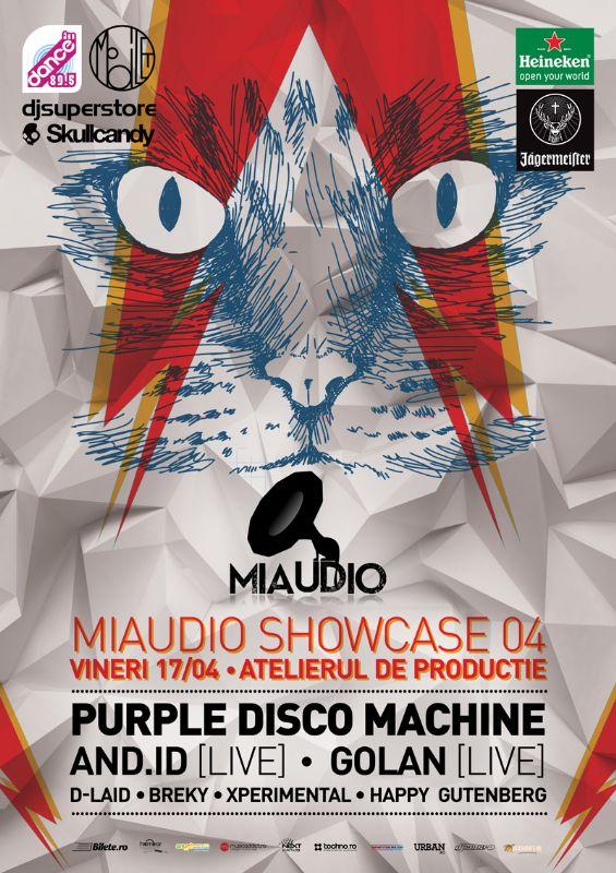Afiş concert Miaudio Showcase 04 în Atelierul de Producţie 2015