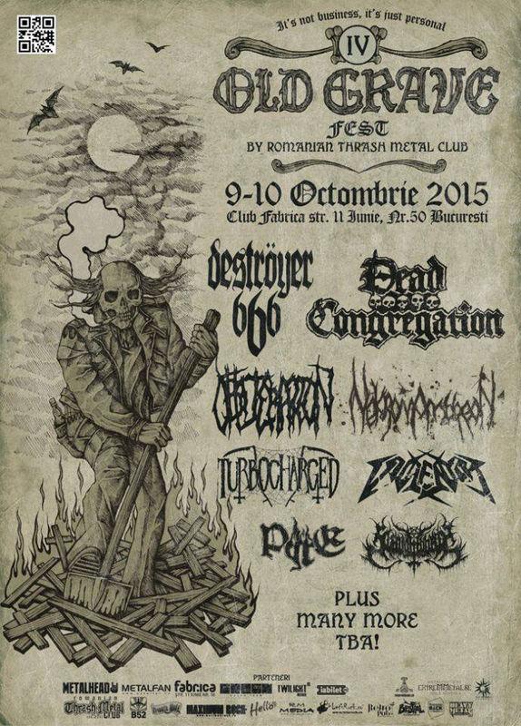 Afiș Old Grave Fest 2015 în Fabrica