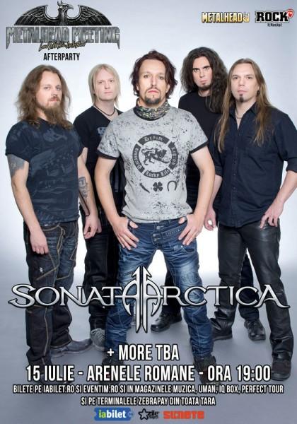 Afiş concert Sonata Arctica la Arenele Romane pe 15 iulie 2015