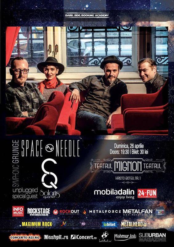 Afiş concert Space Needle la Teatrul Mignon pe 26 aprilie 2015