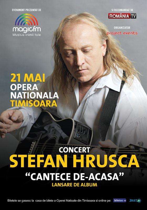 Afiș Concert Ștefan Hrușcă la Opera Națională Timișoara pe 21 mai 2015