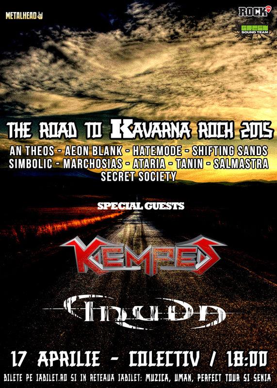 Afiş The Road to Kavarna Rock în Colectiv 2015