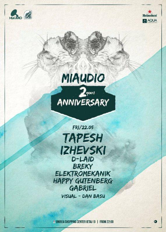 Afiș Miaudio 2 years anniversary