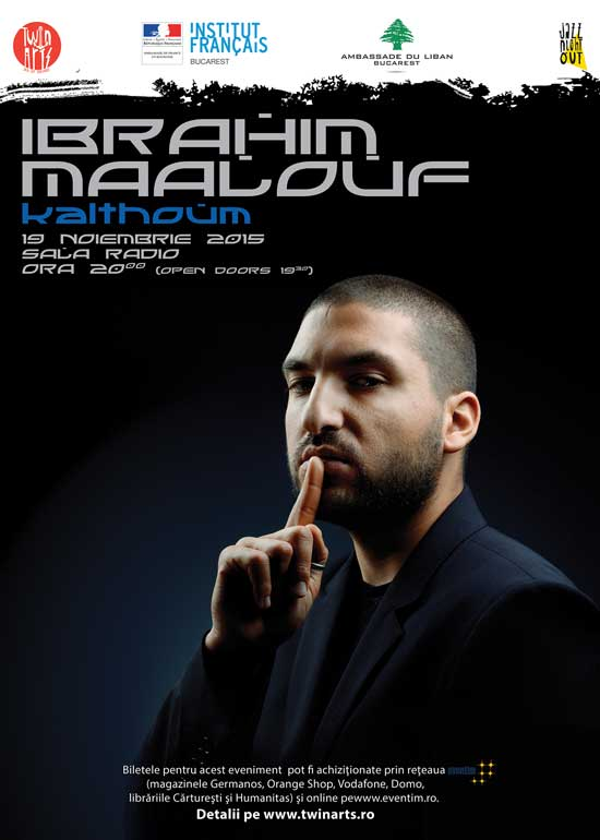 Afiș Ibrahim Maalouf concert Romania 2015