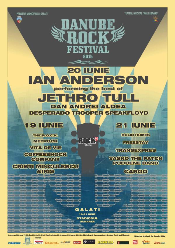 Afiș Festival Rock la Dunare II 2015 Galati