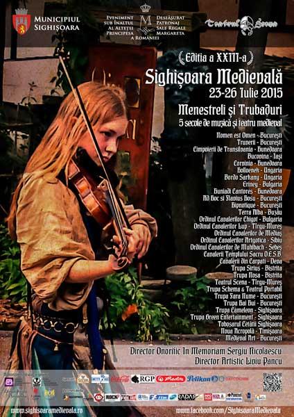 Festivalul Sighișoara Medievală 2015 la Cetatea Sighișoarei