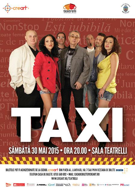 Afiș Taxi concert la Teatrelli