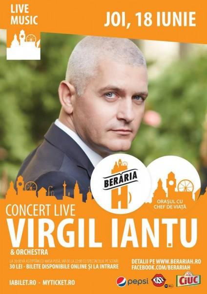 Afiș Virgil Iantu concert la Berăria H