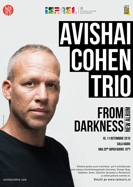 Afiș concert Avishai Cohen Trio la Sala Radio 2015