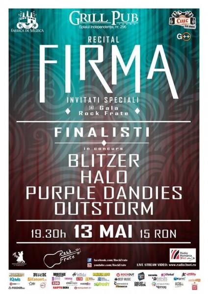 Afiș concert Firma în Grill Pub pe 13 mai 2015