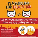 Afiș concert Playground for education 2015
