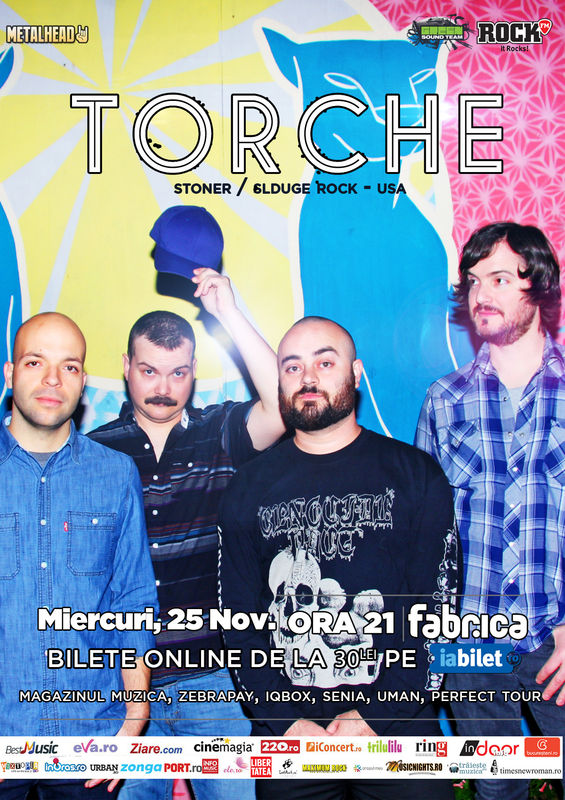 Afiș concert Torche în Fabrica pe 25 noiembrie 2015