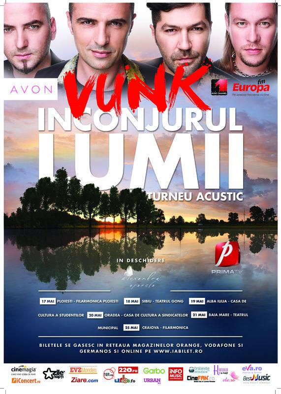 Afiș turneu Vunk - Înconjurul Lumii mai 2015