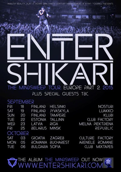 Enter Shikari - The Mindsweep Tour 2015 (concerte europene)