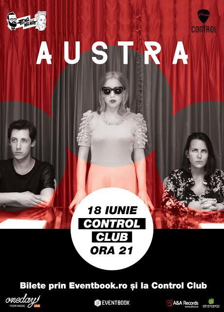 Afiș Austra concert Control Club 2015