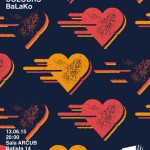 Afiș Balako concert Sala ARCUB 2015