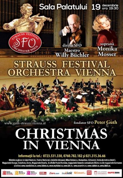 Afiș Christmas in Vienna concert la Sala Palatului 2015