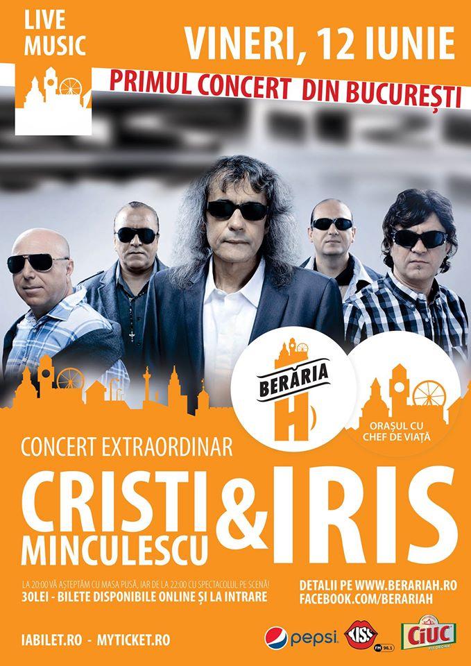 Afiș Cristi Minculescu si Iris concert 2015