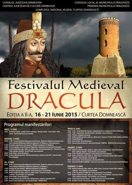 Afiș Festival Medieval Dracula la Târgoviște