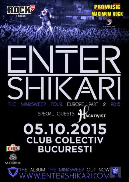 Afiș Enter Shikari concert 2015