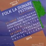 Afiș festival Folk la Dunăre în Galați 2015