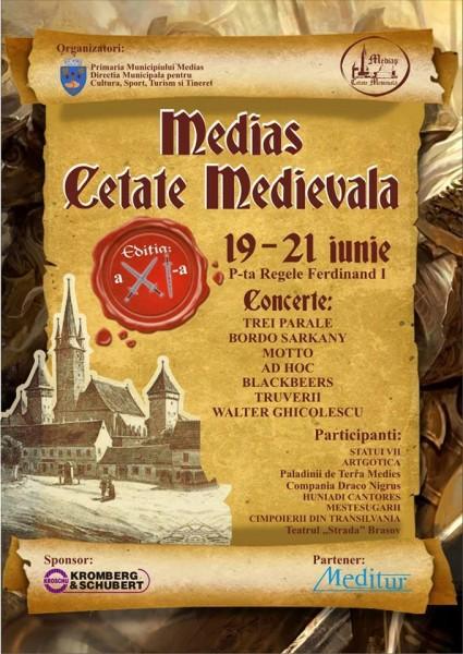 Afiș festival Medias Cetate Medievală