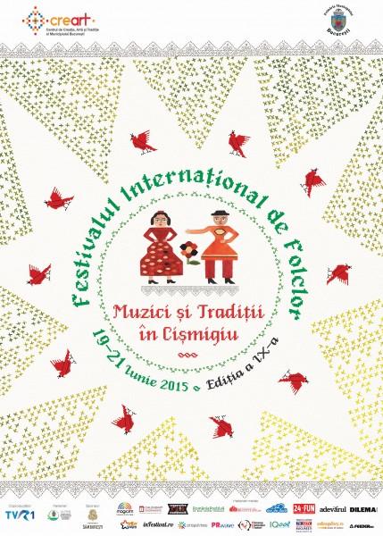 Afiș Festival Muzici și Tradiții în Cișmigiu