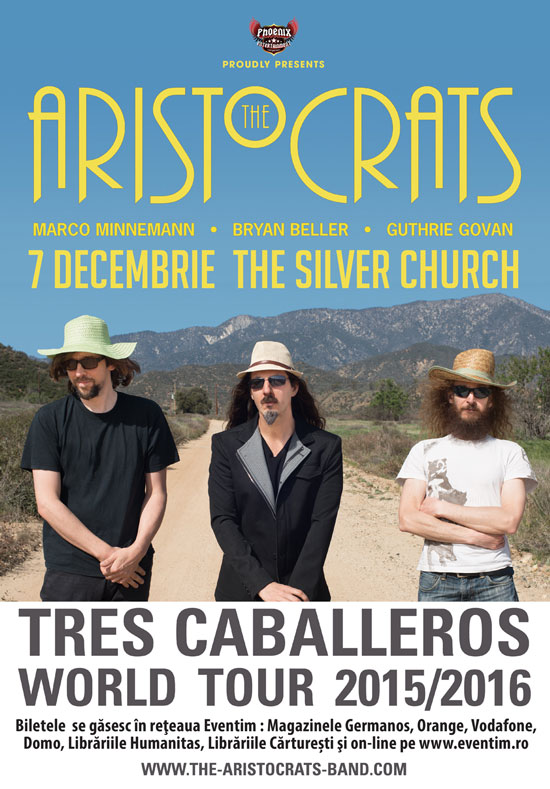 Afiș concert The Aristocrats în Silver Church 2015