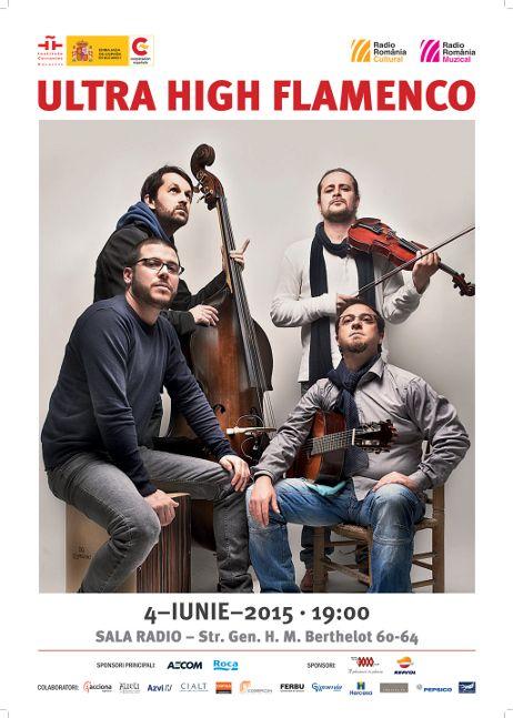Afiș Ultra High Flamenco concert Sala Radio 2015