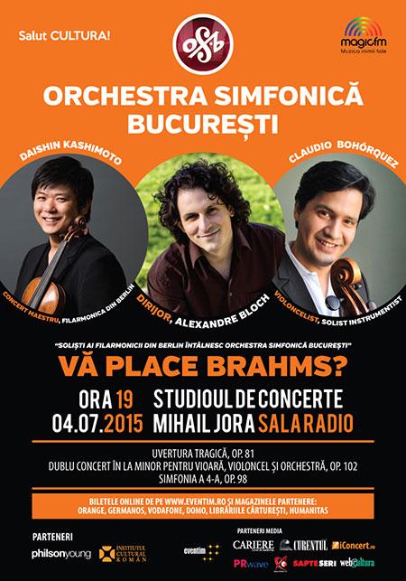 Afiș Vă place Brahms concert 2015