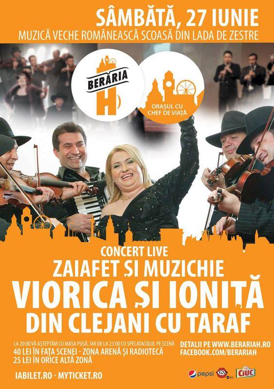 Afiș Viorica și Ionița din Clejani concert Berăria H 2015