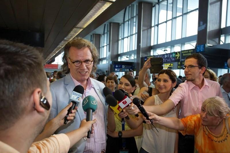 Andre Rieu la Aeroportul Internațional Henri Coandă București