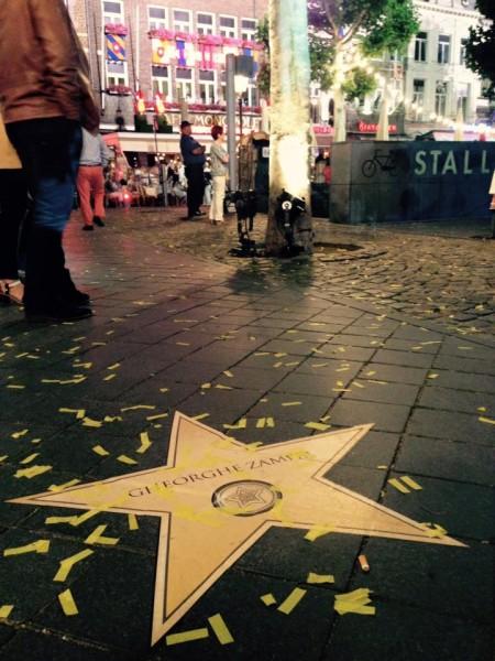 Steaua lui Gheorghe Zamfir de pe Aleea Celebrităților din Maastricht
