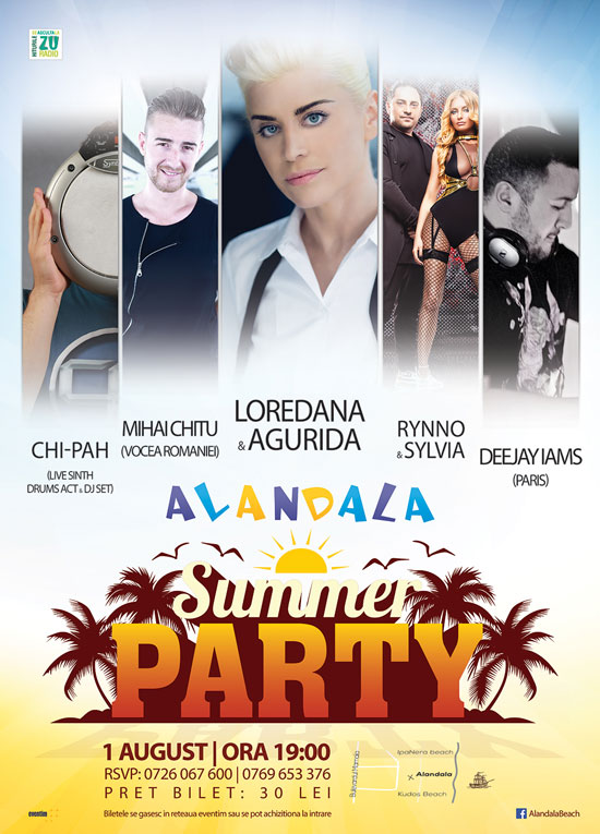 Afiş Alandala Summer Party Mamaia 2015