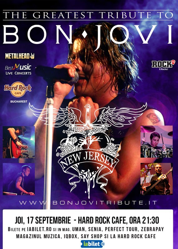 Afiș Bon Jovi Tribute concert Hard Rock Cafe 2015
